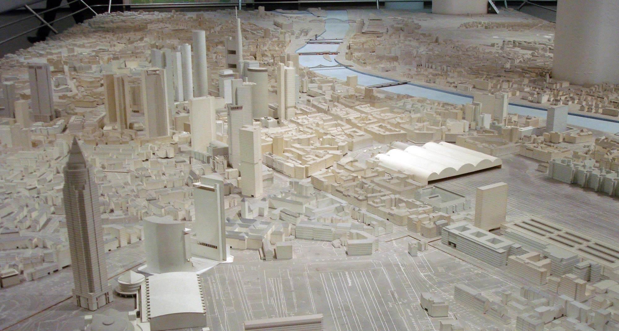 Stadtmodell Frankfurt im Stadtplanungsamt