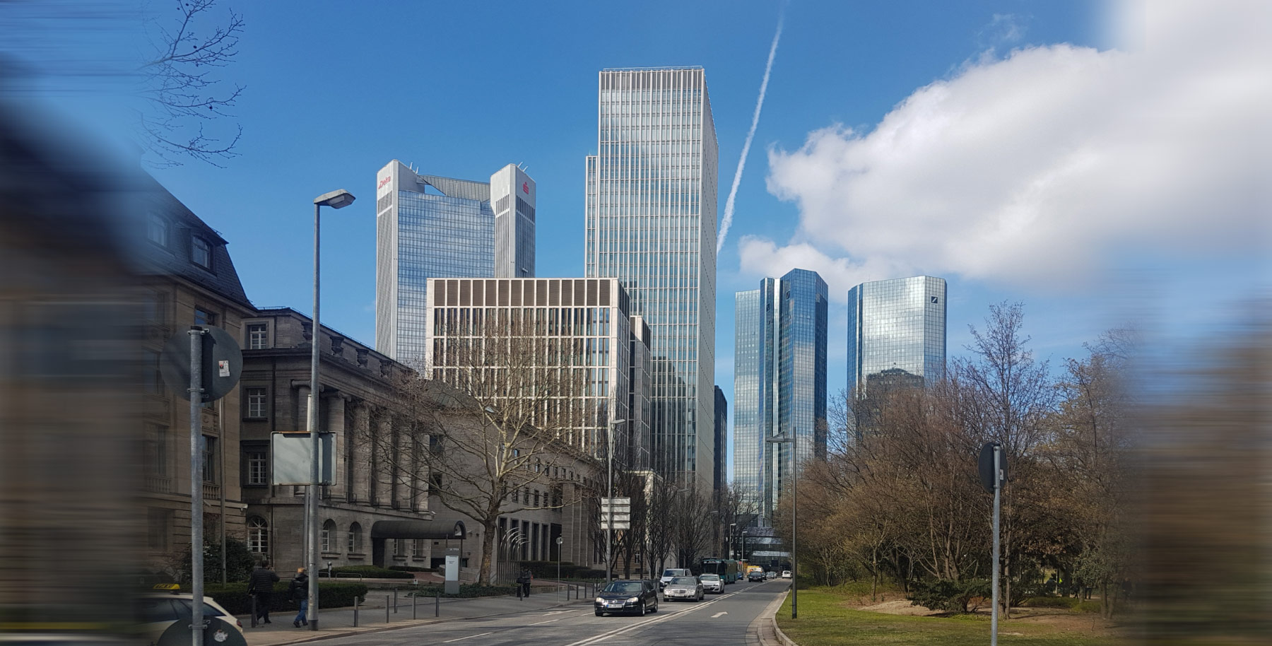 Marienturm office tower in Frankfurt CBD 2019 - New Goldman Sachs German Headquarters Building