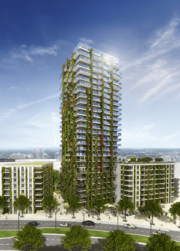 Planted residential high-rise Tower 90 gets hanging gardens