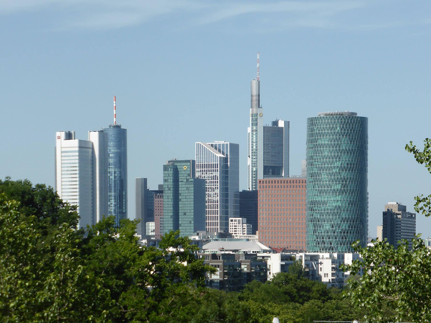 Wolkenkratzer in Frankfurt