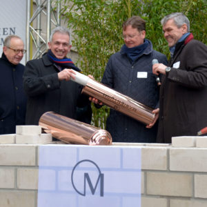 Foundation stone is laid today at the Marienturm