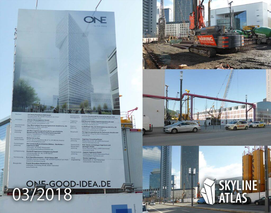 TOWER ONE Frankfurt - highrise - March 2018 - construction site