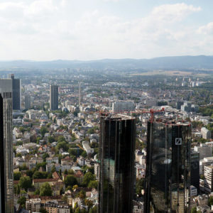 New high-rises in Frankfurt
