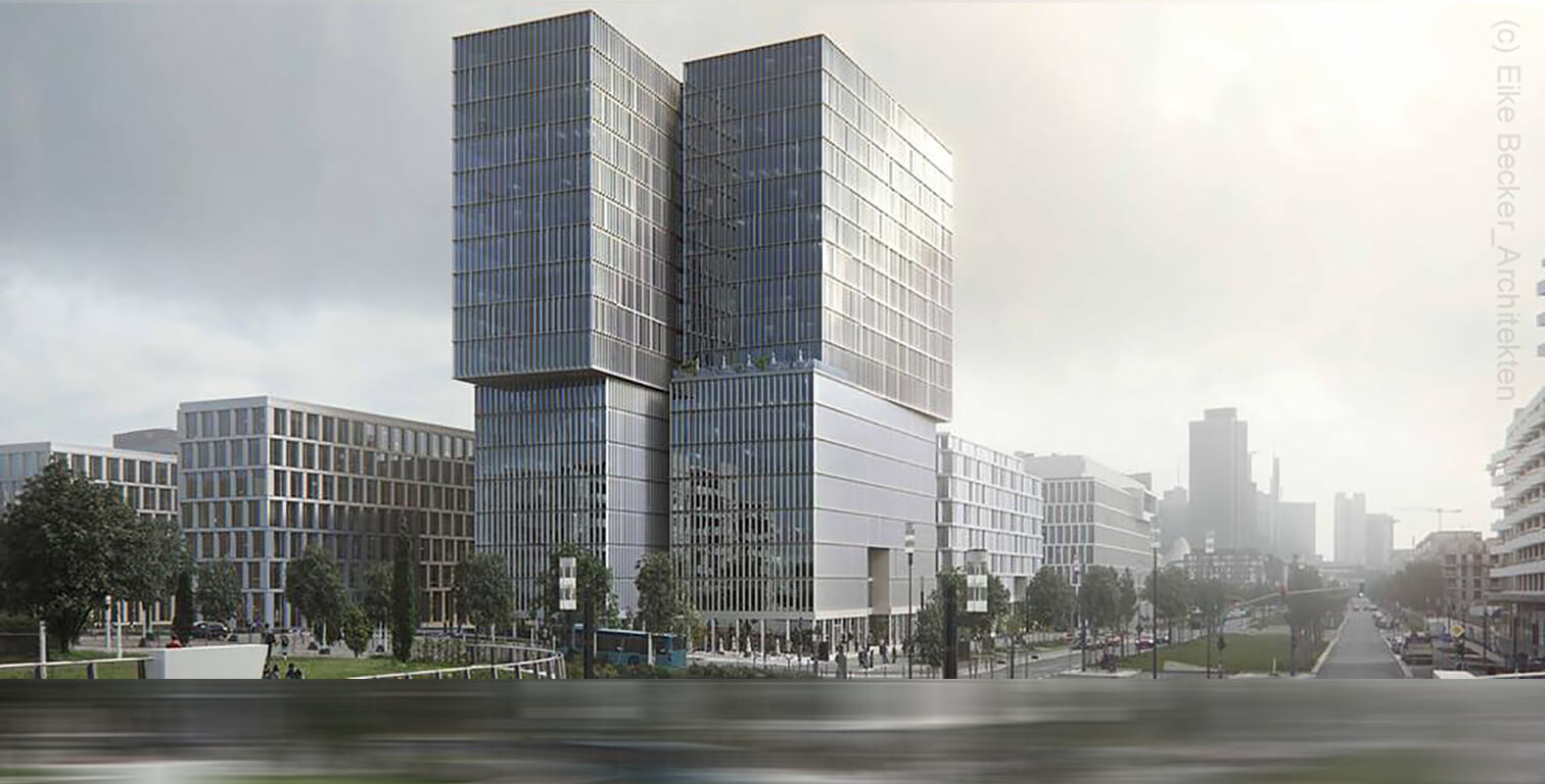 FAZ newspaper - highrise - new headquarters building - European District - Frankfurt (c) Eike Becker