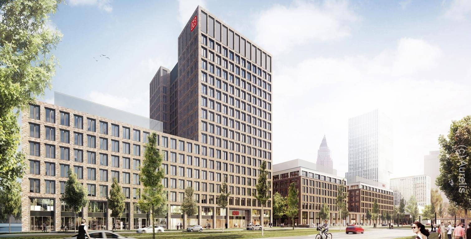 DB Tower - Frankfurt, Germany - European District - The Brick - Animation (c) Aurelis