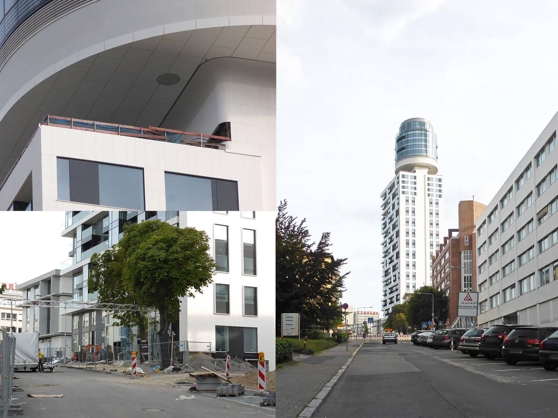 Der Henninger Turm im Bau (August 2017)