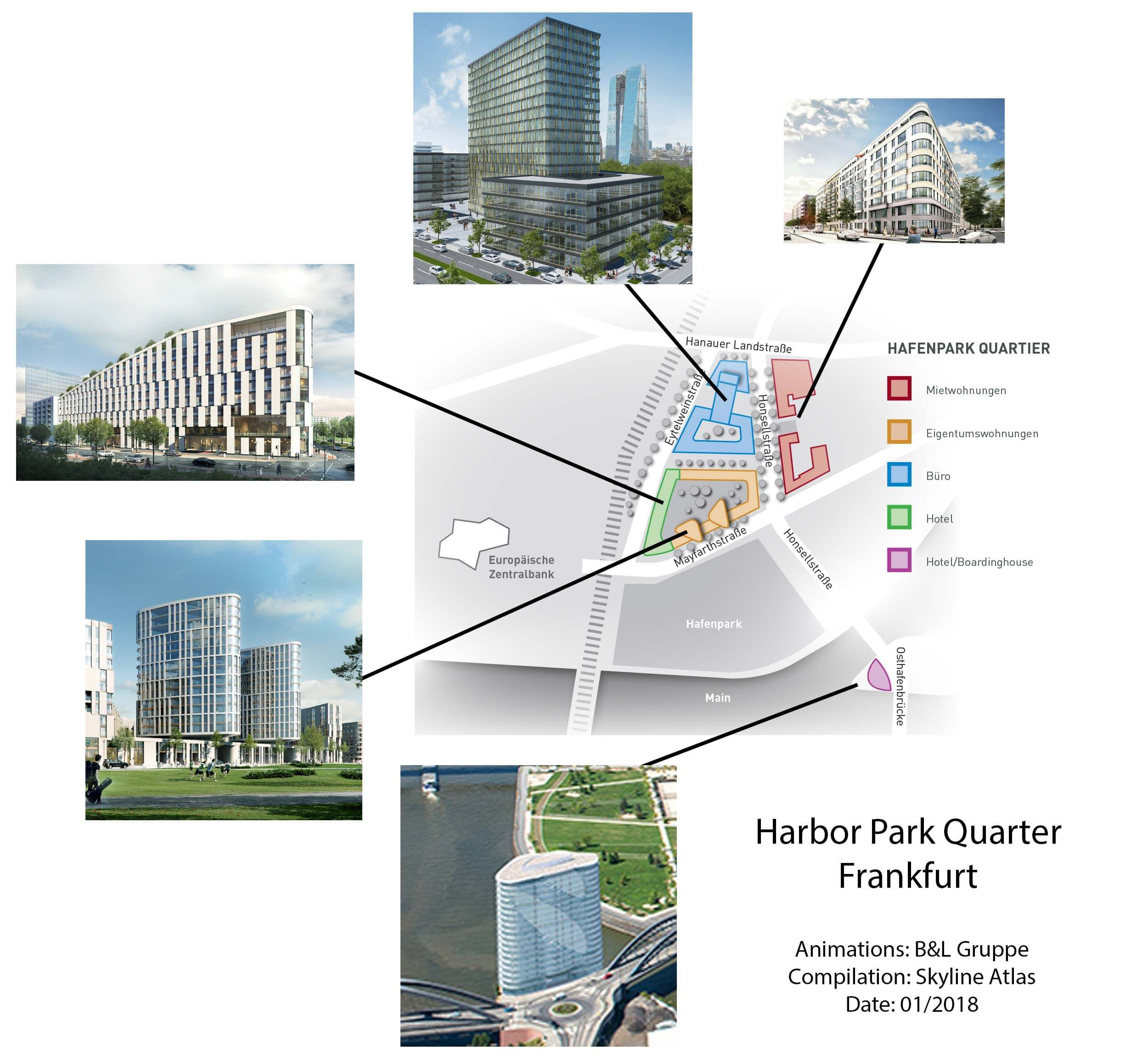 Hafenpark-Quartier in Frankfurt Germany - Harbor Park Quarter