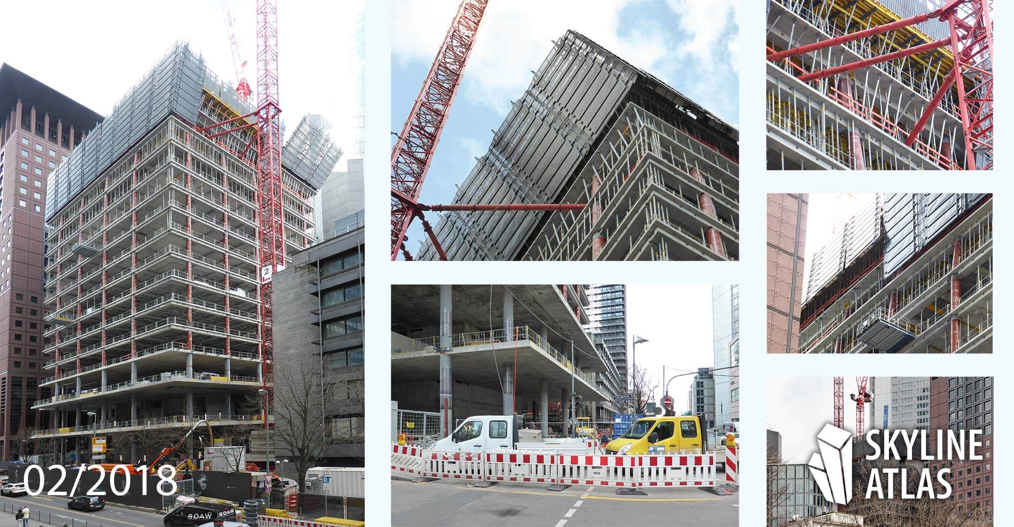 OmniTurm skyscraper - under construction - Frankfurt CBD Central Business District - February 2018