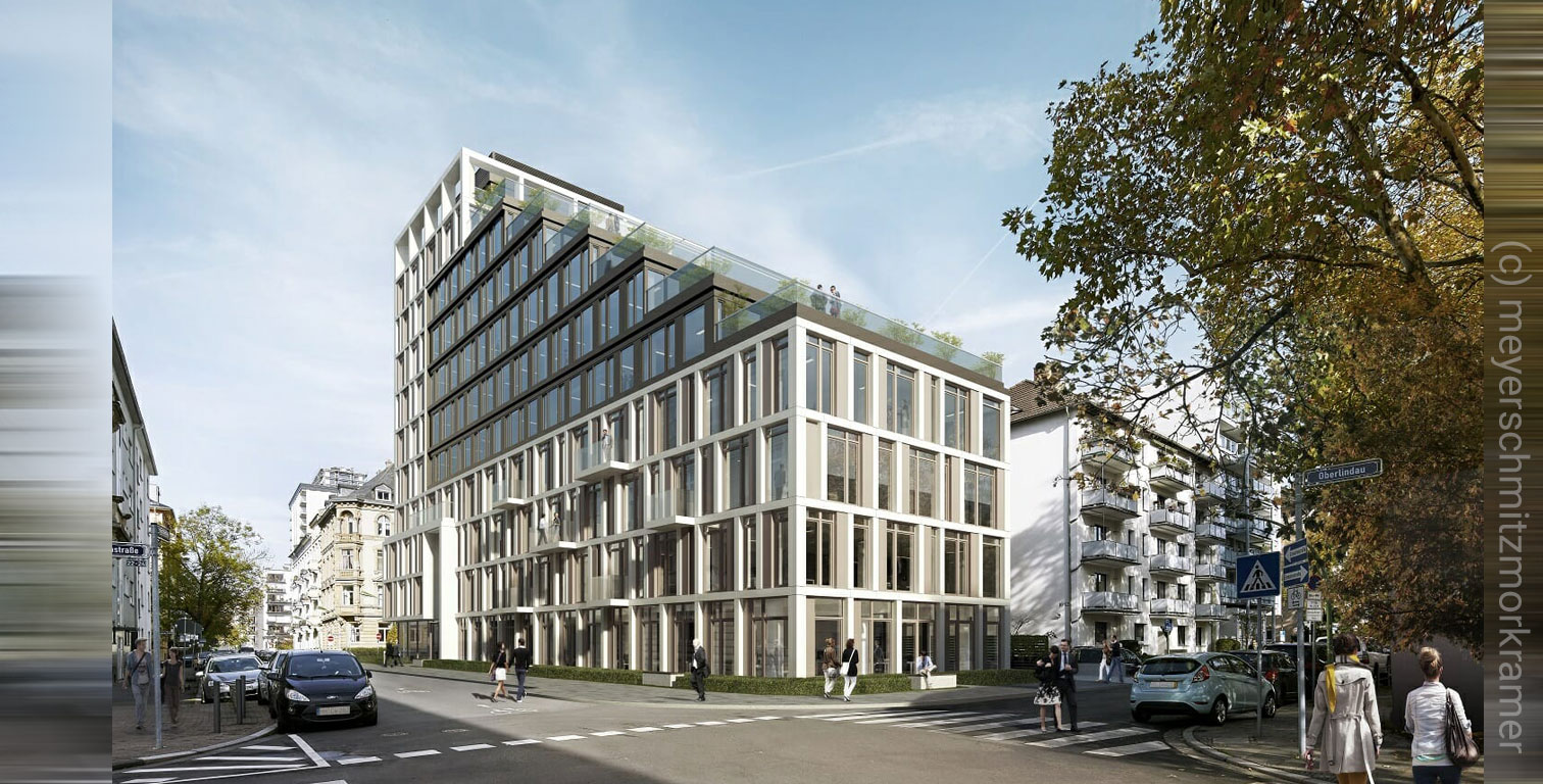 MORROW in Frankfurt, planned office building in the Westend district, by meyerschmitzmorkramer.