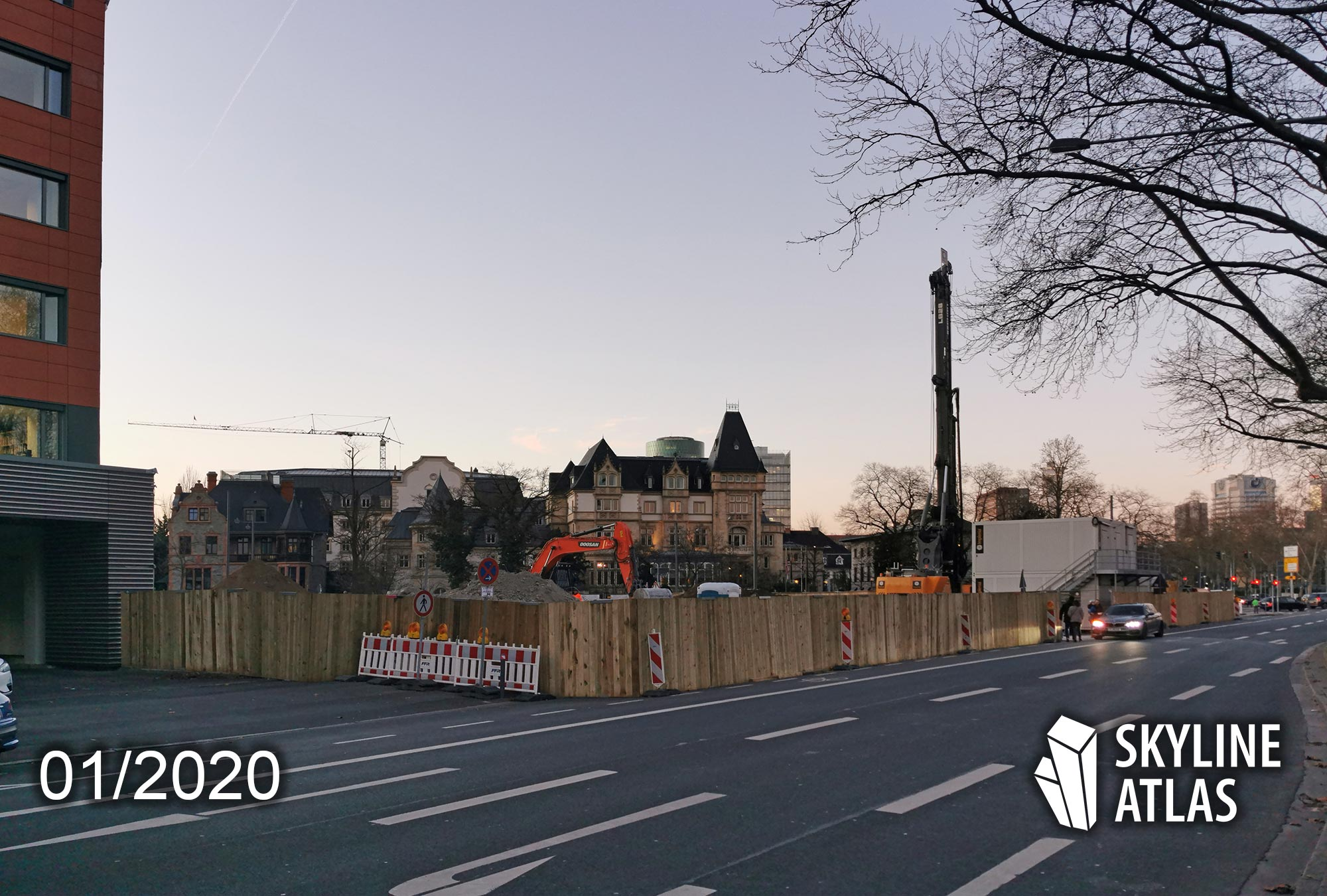 Condominium tower Frankfurt under construction Jan 2020