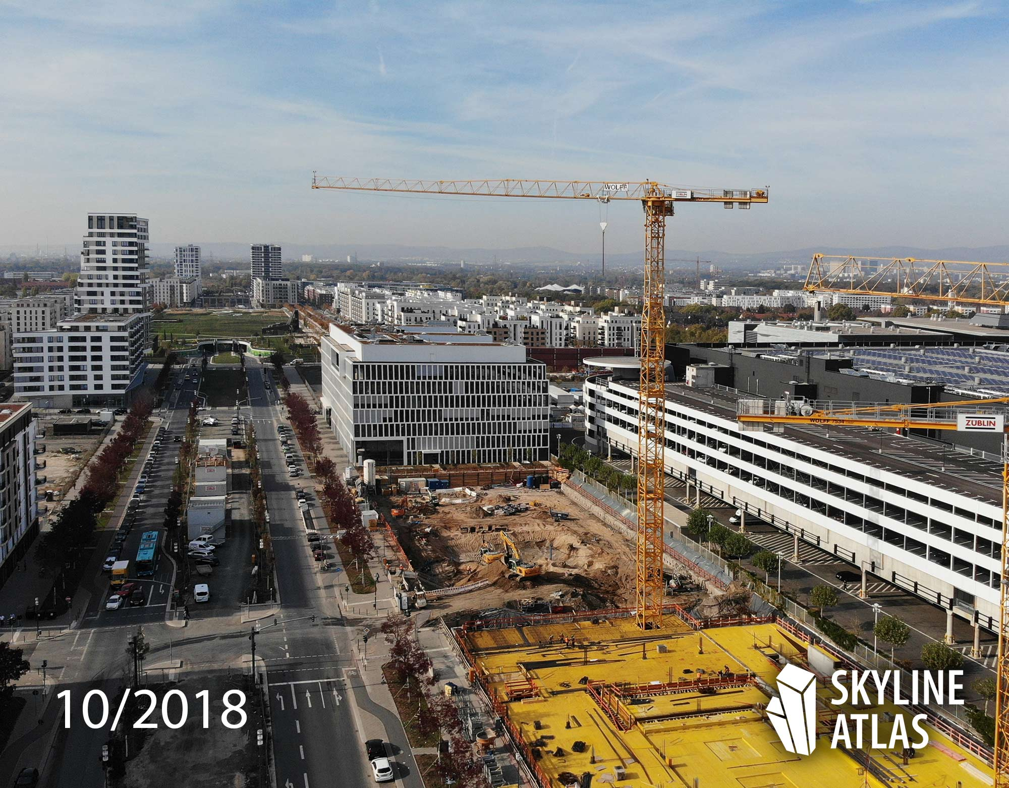 DB Tower - New high-rise building of Deutsche Bahn - Europaallee, Frankfurt, Germany - construction site in October 2018