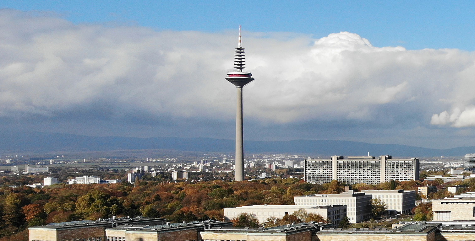 Europaturm - European Tower - TV Tower in Frankfurt - Broadcasting Tower - Tallest building in Frankfurt