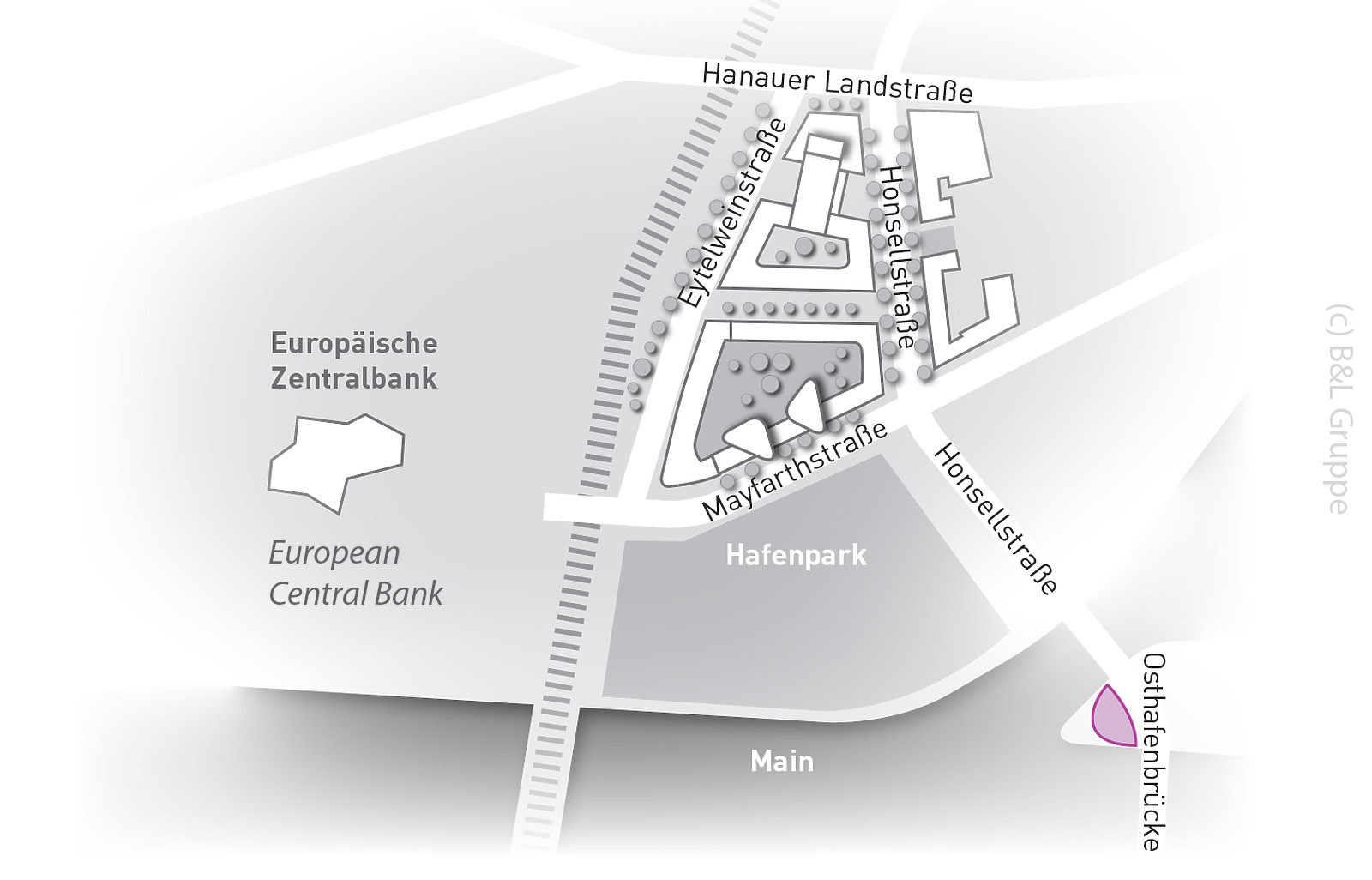 Harbor Park Quarter in Frankfurt - Hafenpark Quartier - new hotels at ECB site