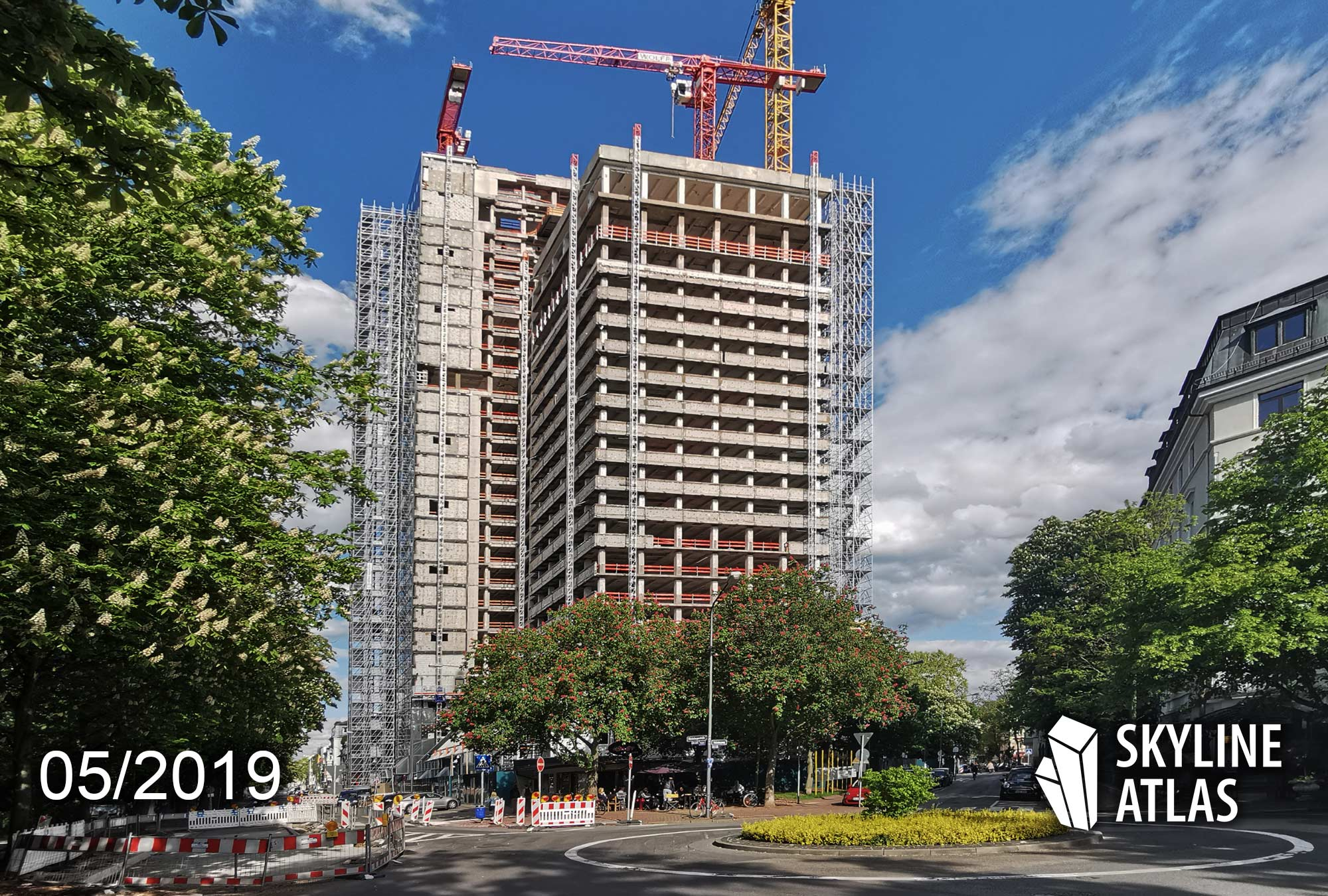 160 Park View Frankfurt Hotel - High-rise under construction - May 2019 - Hotel high-rise
