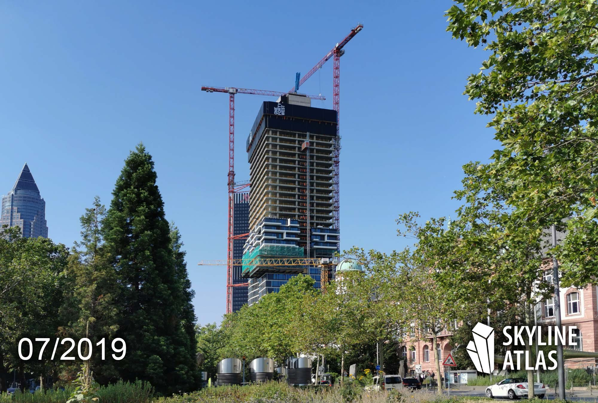 140 West - ONE FORTY WEST - skyscraper in Frankfurt - mixed use - under construction in July 2019