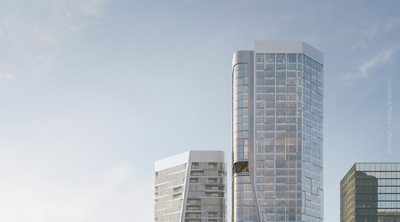 Rendering of FOUR-Frankfurt - Skyline North - Gross und Partner property financing successful