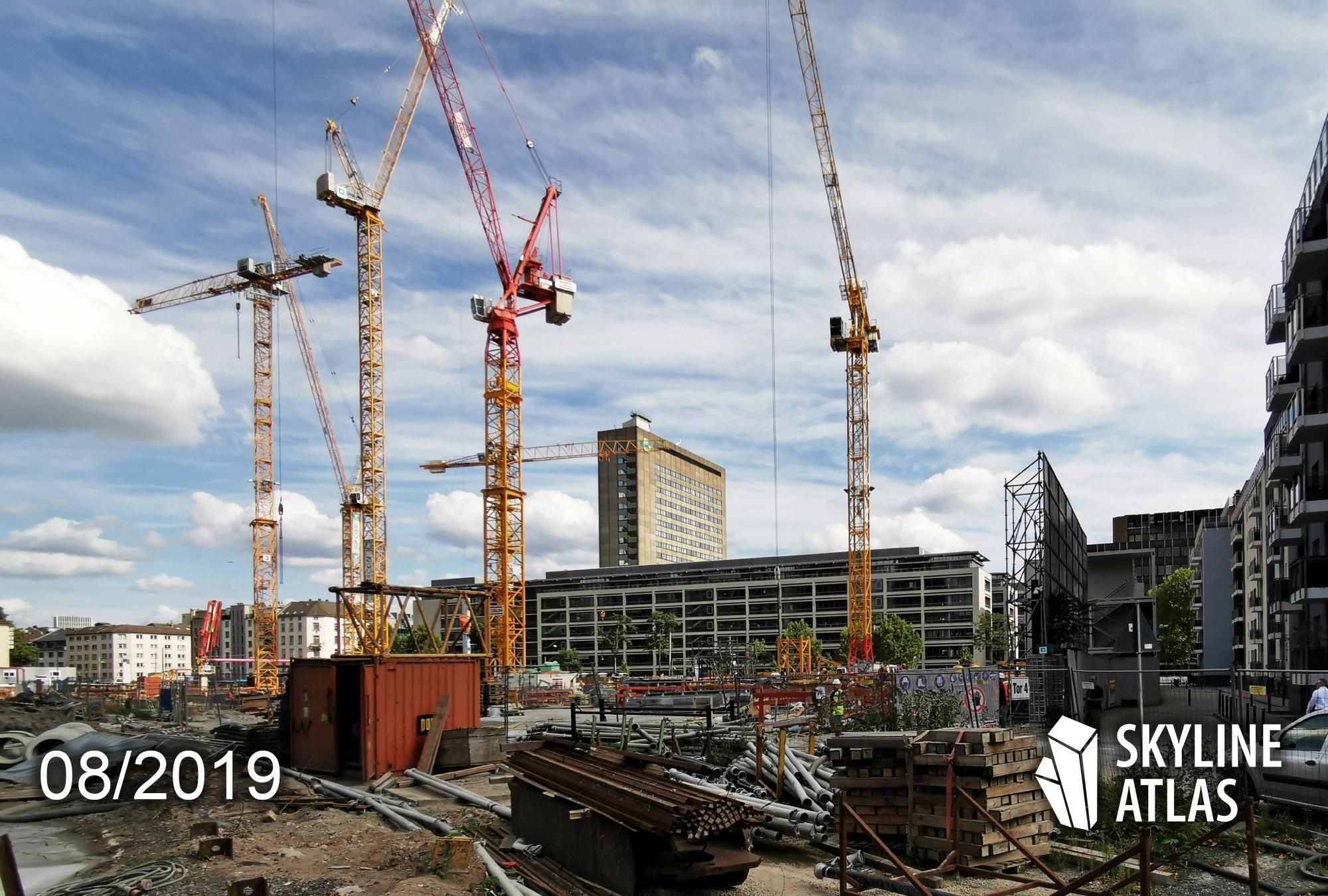 EDEN Frankfurt - Buy apartment - Condo tower - Condominiums for sale - construction site as of August 2019