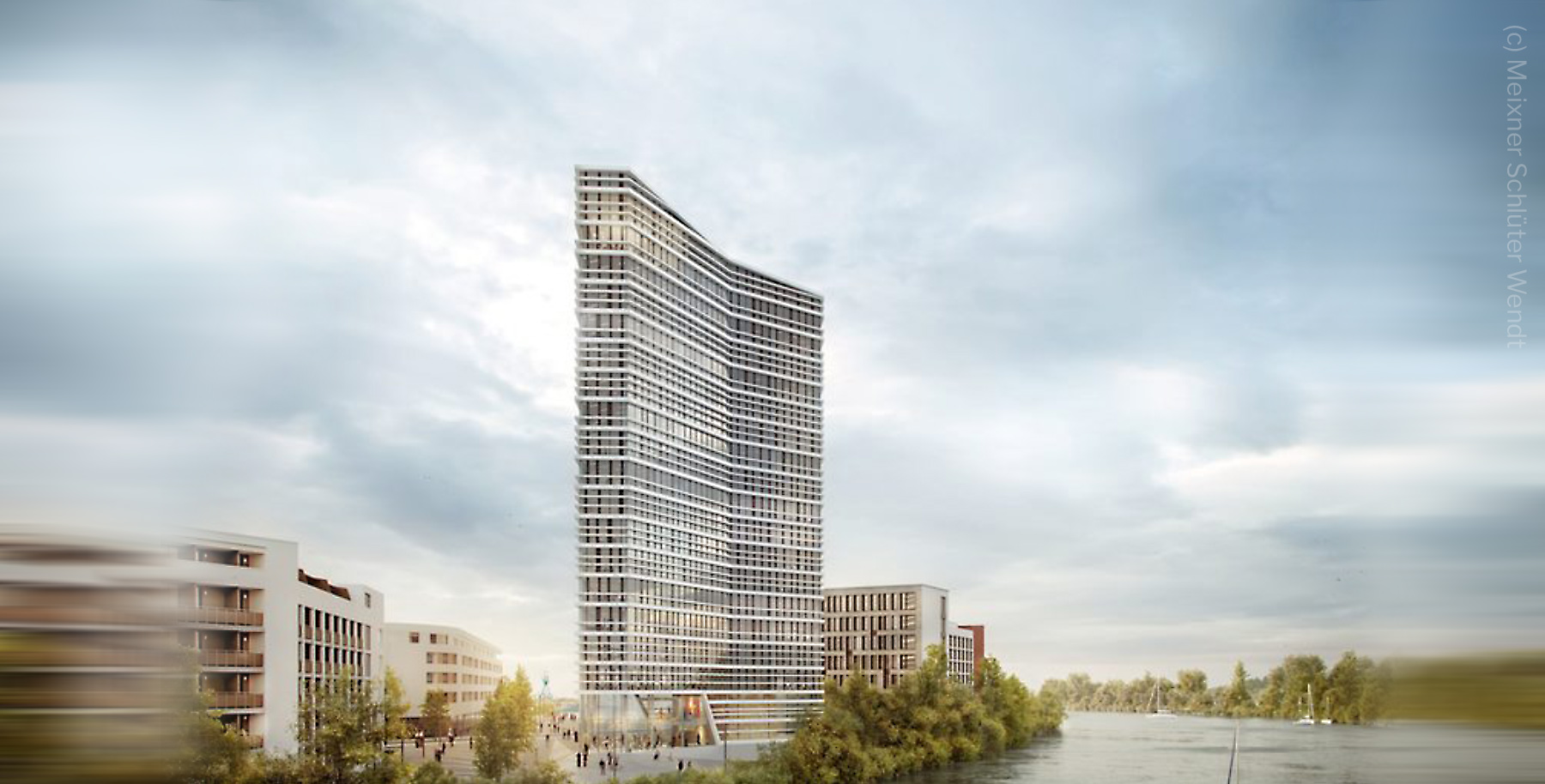 MAIN GATE EAST - New office tower in Offenbach - Highrise Offenbach Harbor - Architect: Meixner Schlüter Wendt - Developer: EYEMAXX