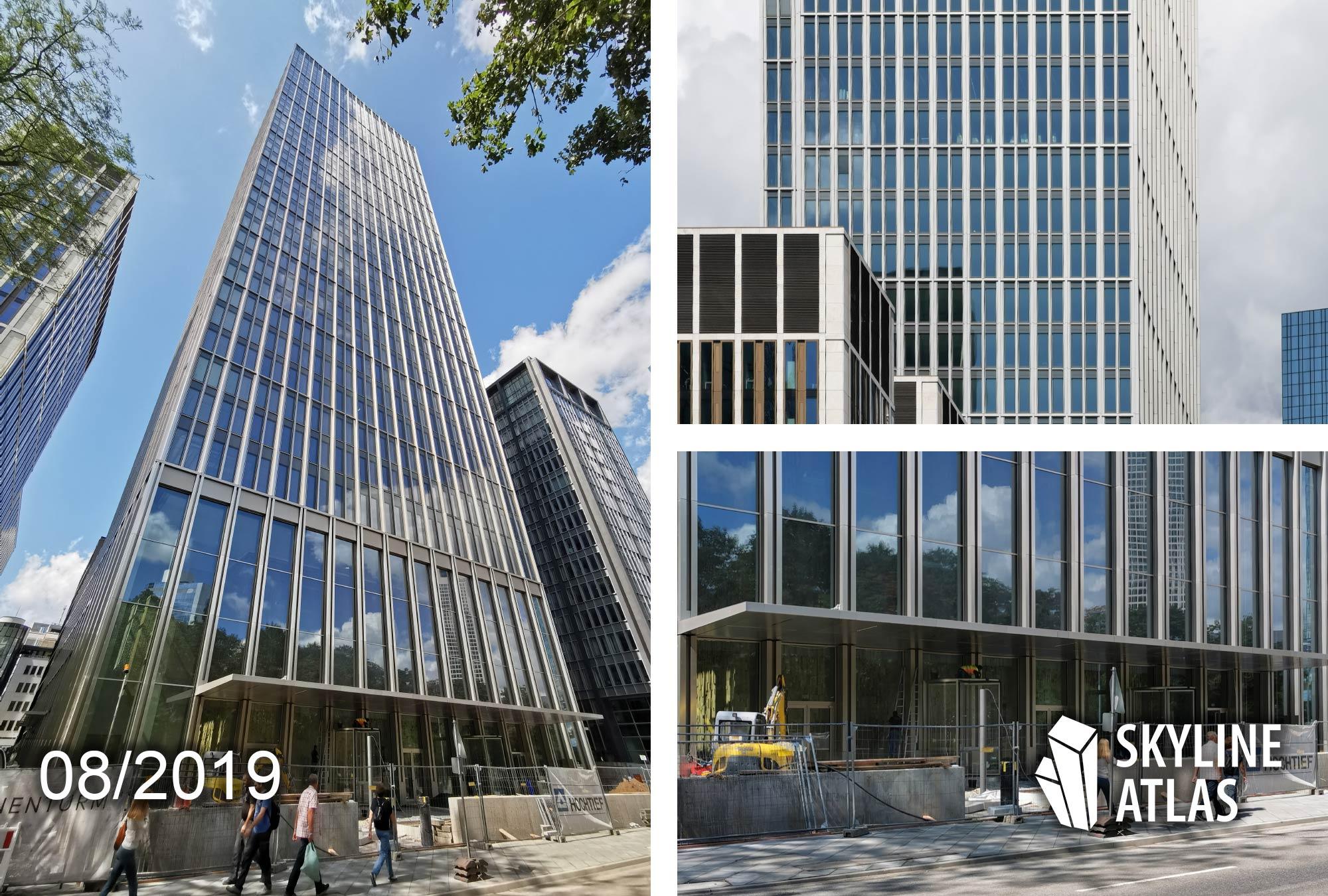 Marienturm in Frankfurt - Project Marieninsel of Pecan Development - Headquarters of Goldman Sachs Germany - Taunusanlage highrise as of August 2019