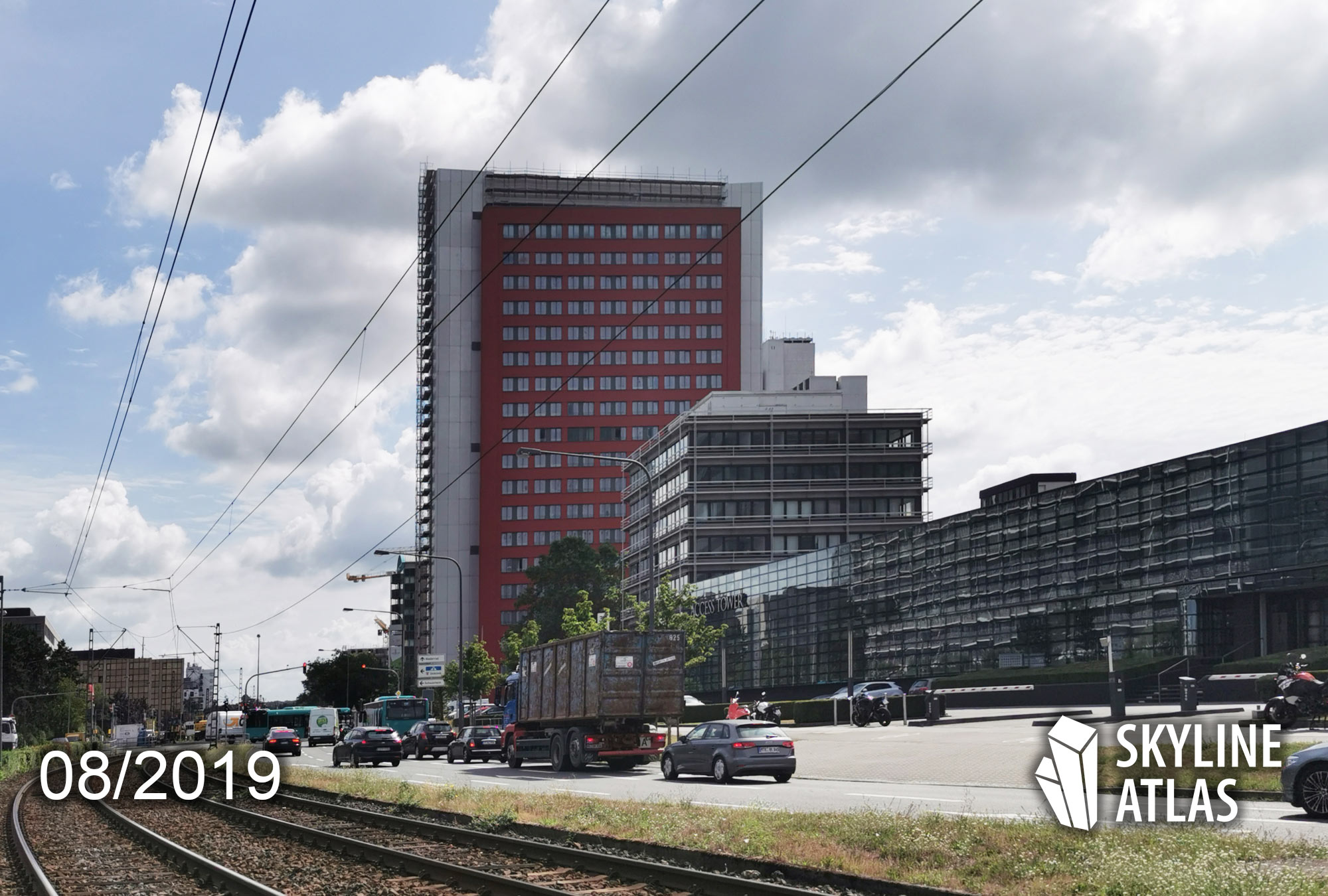 Ruby Tower in Frankfurt-Niederrad - GWH Apartment Tower - Lodging - Highrise in August 2019