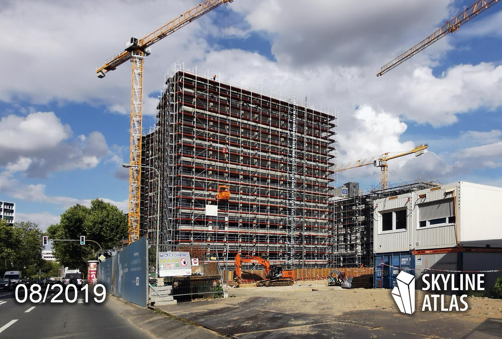 Sky Eschborn - Office building Eschborn - Office Eschborn - Office building in the economic center under construction - Office building in August 2019