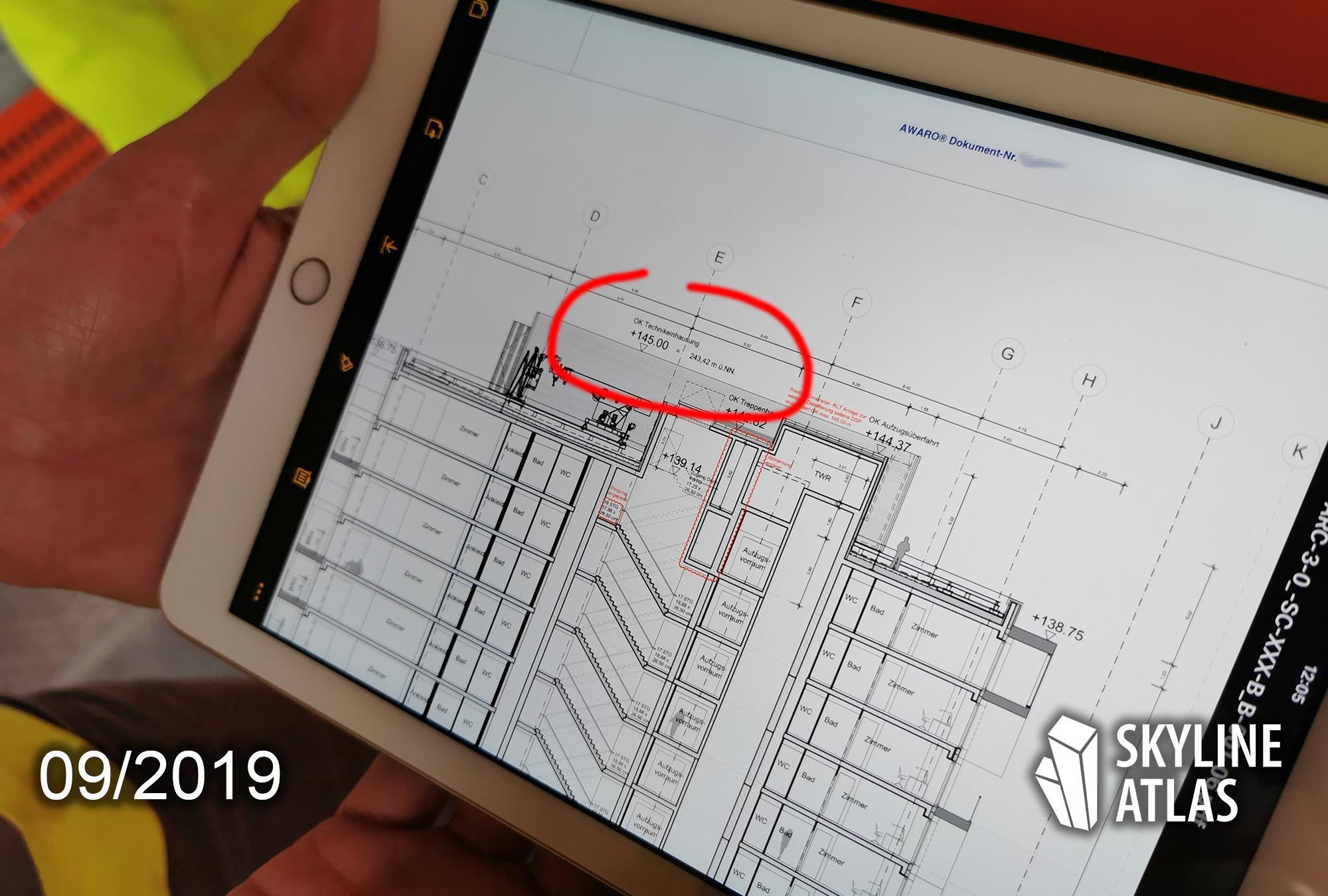 ONE FORTY WEST - official height - building height - iPad - plan - sketch- detail