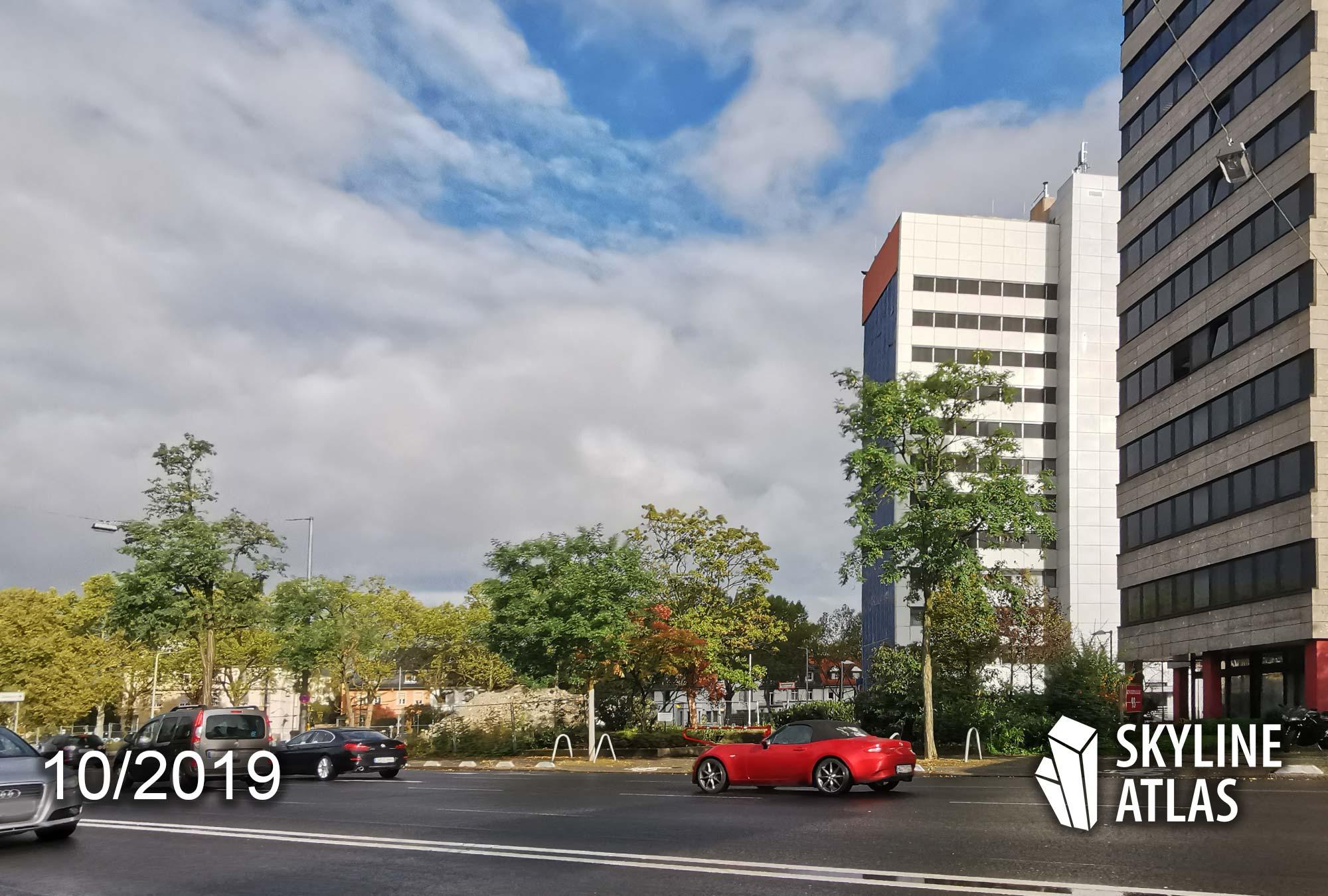 Apartment tower at Kennedyallee Frankfurt - Design by Eike Becker Architekten