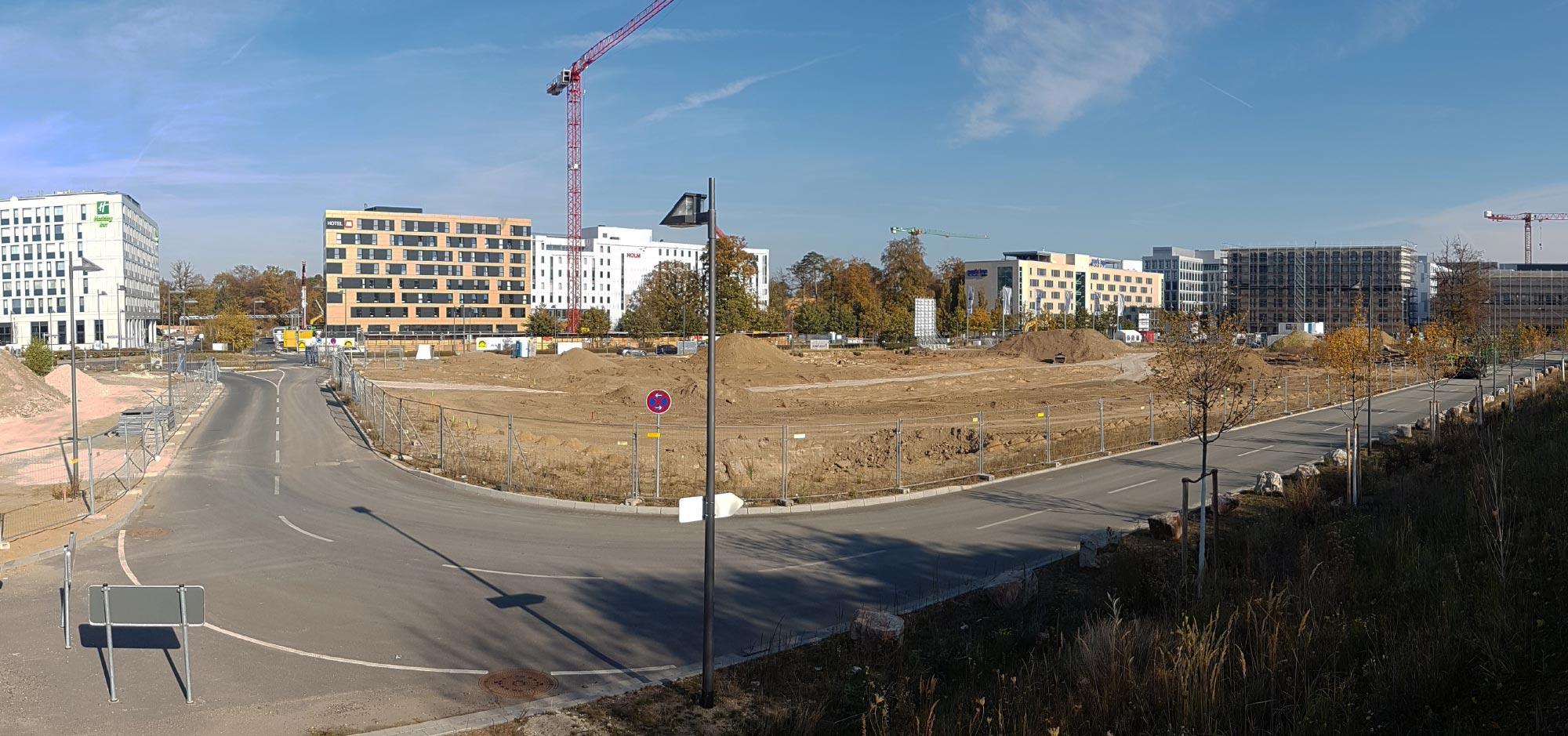 Gateway Gardens - real estate development area in Frankfurt - office district at Frankfurt Airport