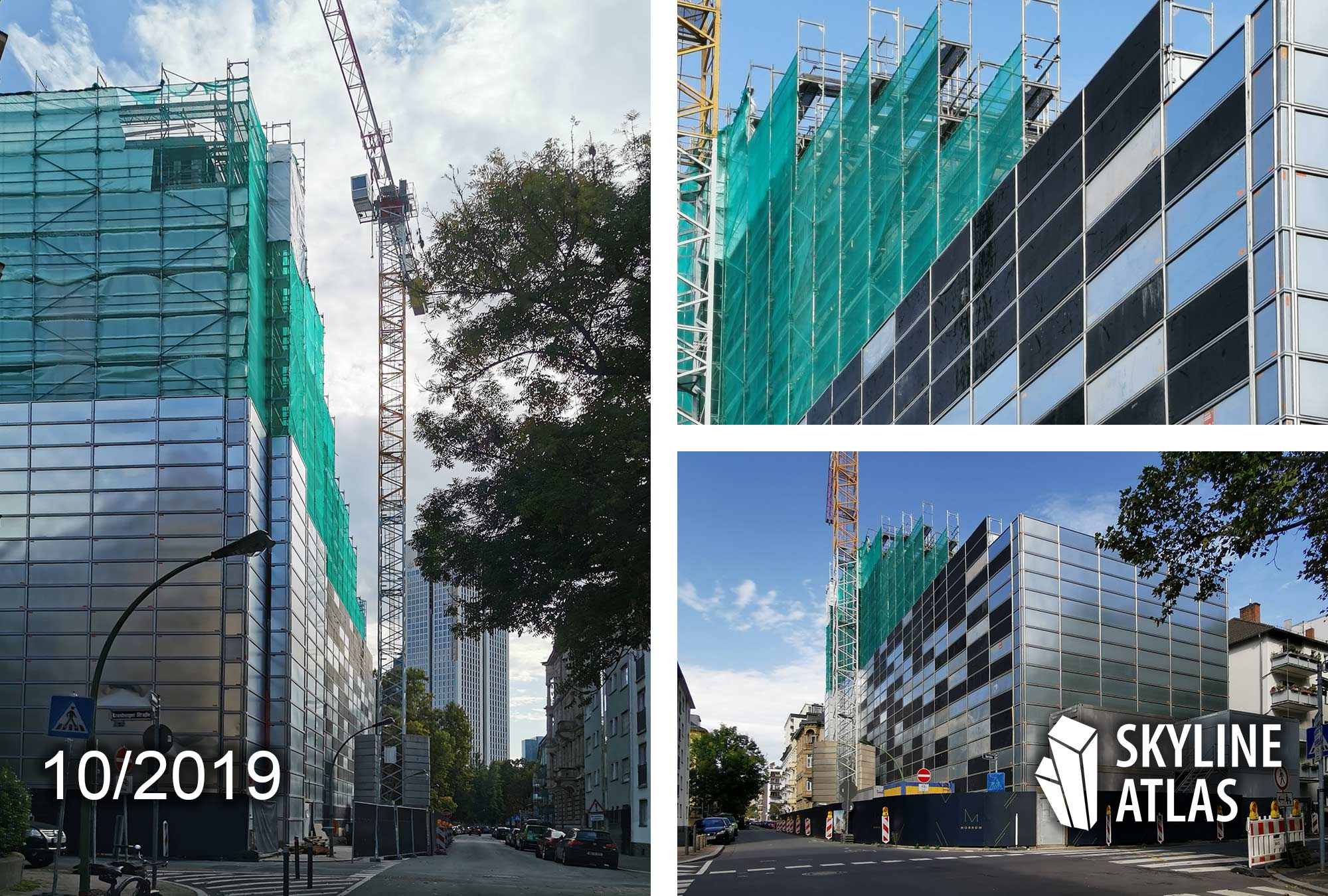 MORROW in Frankfurt Westend - new office building to let - office space under construction - office complex as of October 2019