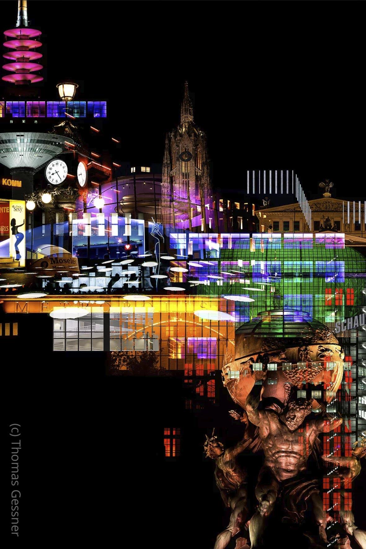 NEO NOIR – Frankfurt Skyline at Night