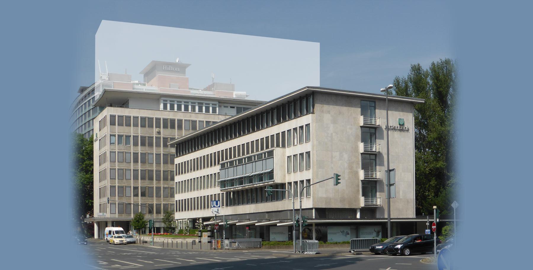 New building of Landwirtschaftliche Rentenbank in Frankfurt