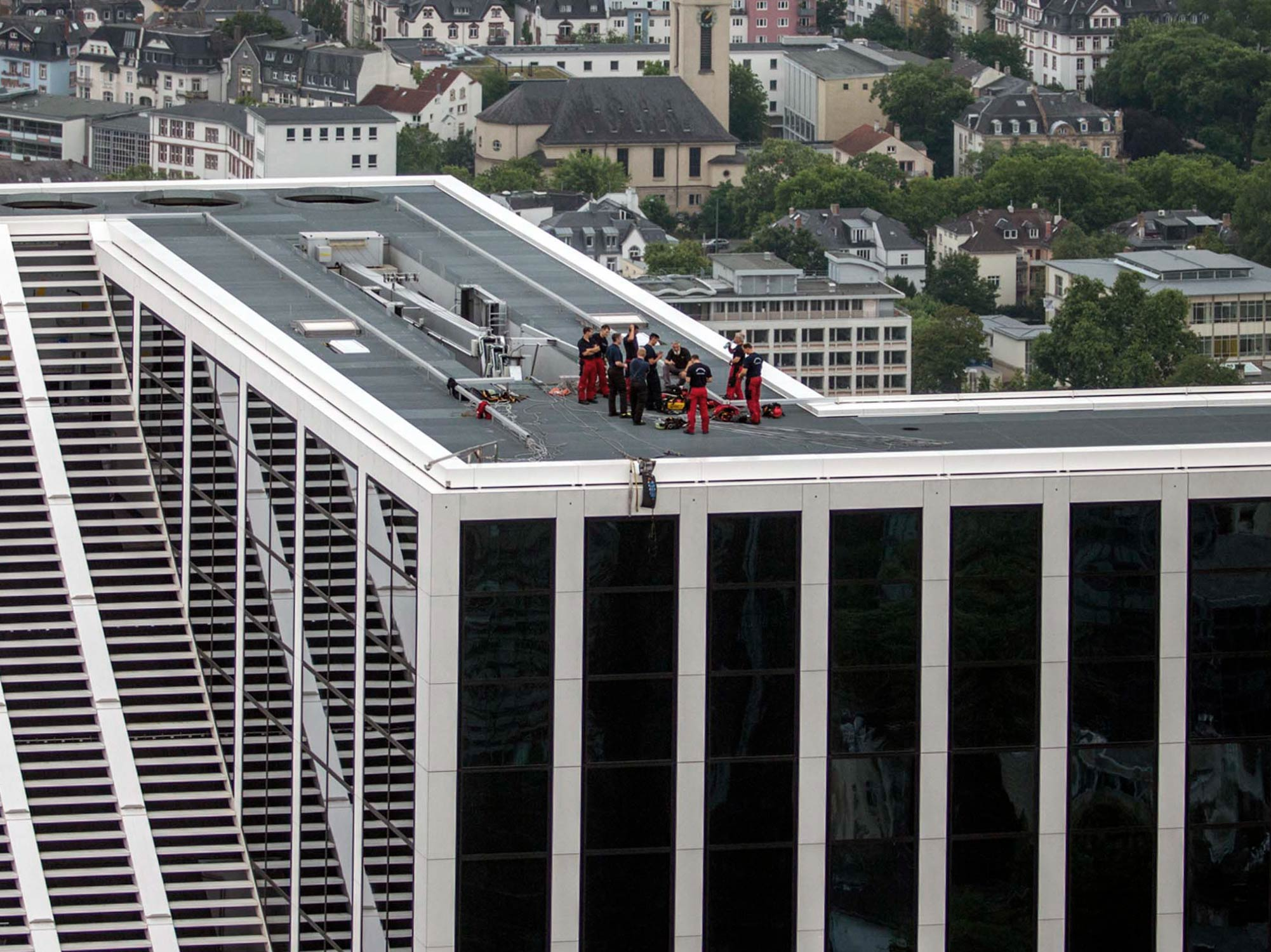 Height Rescue Team of Frankfurt Fire Brigade