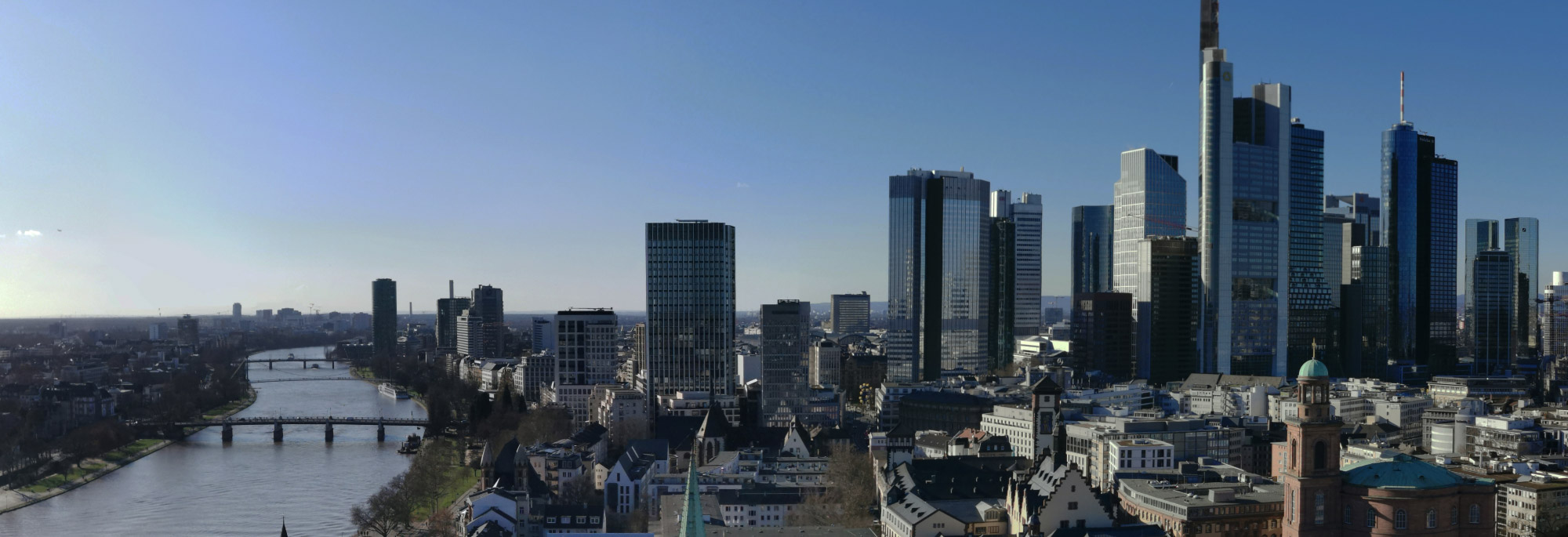 Why are there high-rise buildings in Frankfurt?