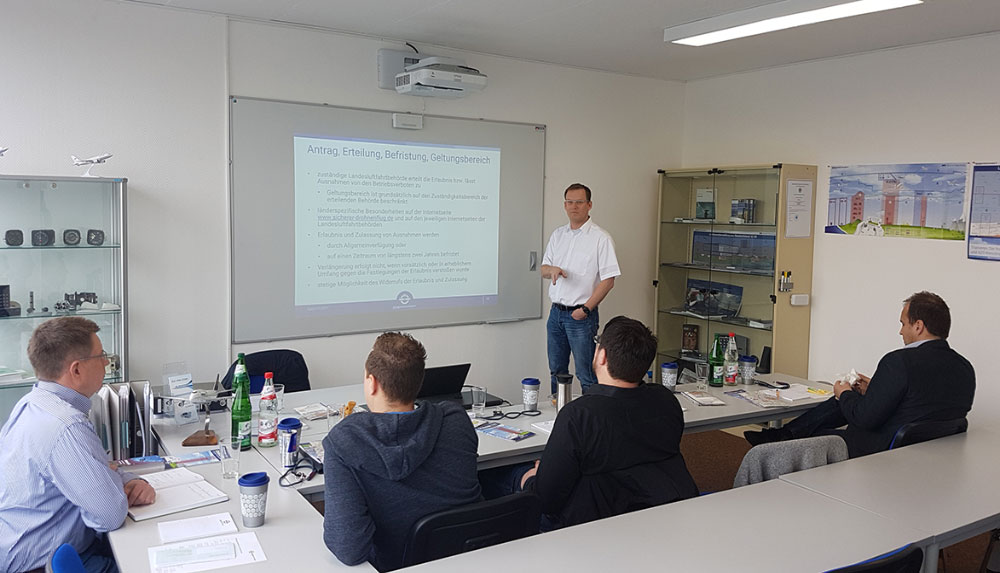 Becoming a certified drone pilot in Germany requires on-premise training