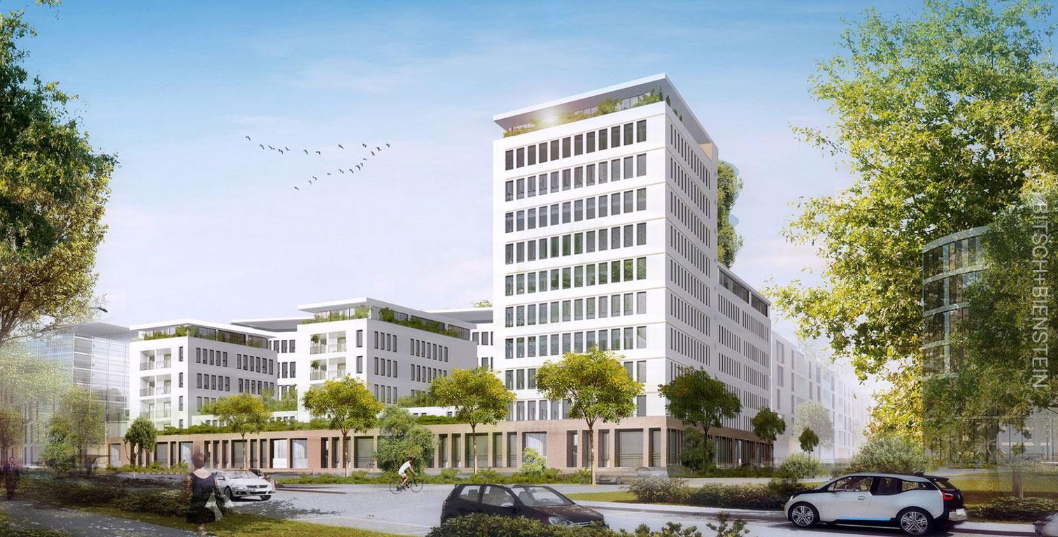 Hahnstrasse 46 and Hahnstrasse 48 in Frankfurt - new residential complex - Nassauische Heimstätte