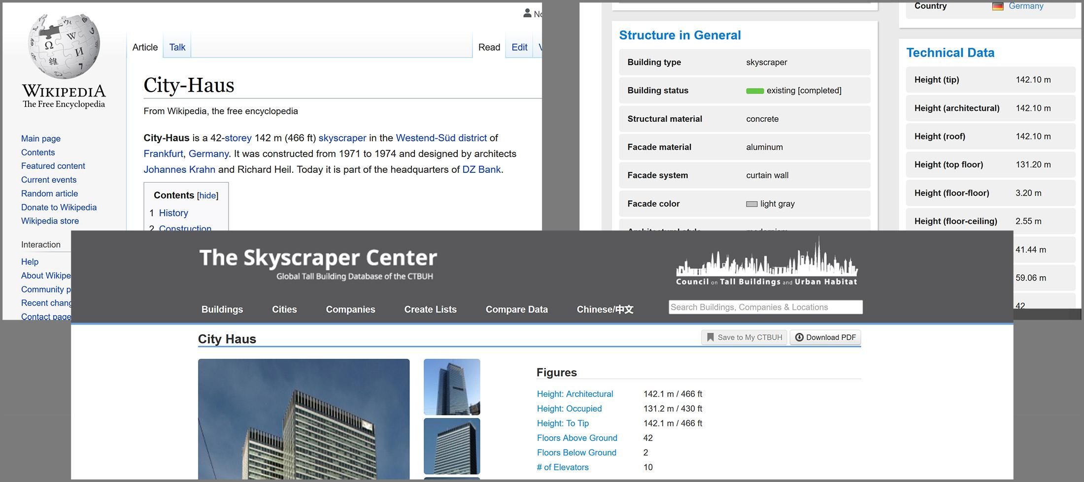 Wikipedia - Emporis - Skyscraper Center CTBUH